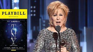 Let Bette Midler Speak! Her Hilarious Acceptance Speech at 2017 Tony Awards
