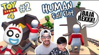 Forky Escapa del Mundo de Plastilina | Toy Story Human Fall Flat | Juegos Karim Juega