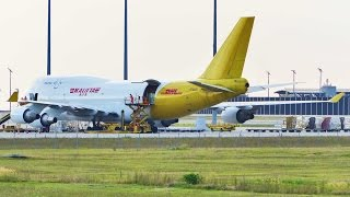 Kalitta Air - N740CK; pushback and take-off