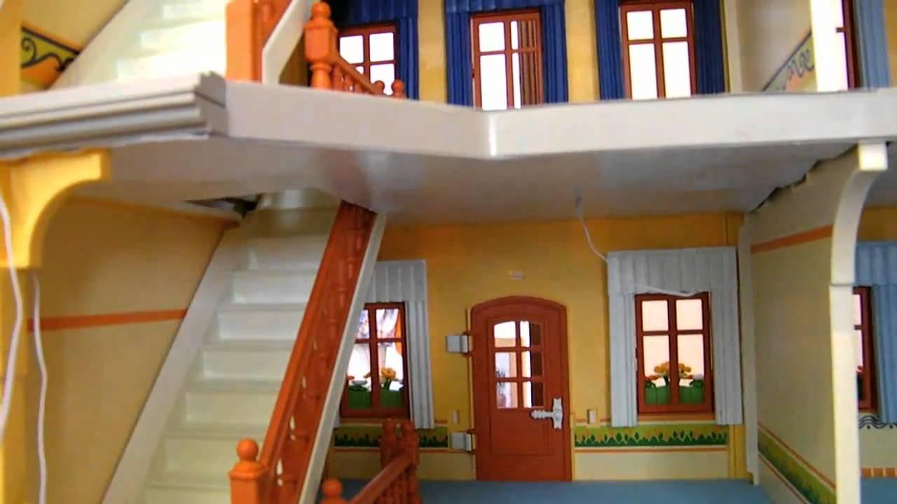 Casa de mu ecas playmobil de mar a preinstalaci n el ctrica suelos y doble techo parte 2 - Gran casa de munecas playmobil ...