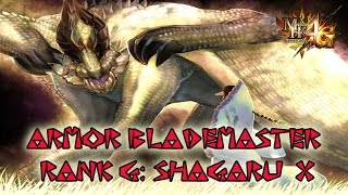 Monster Hunter 4G/ULTIMATE - Armor blademaster G SHAGARU X / Armadura espadachín G SHAGARU X