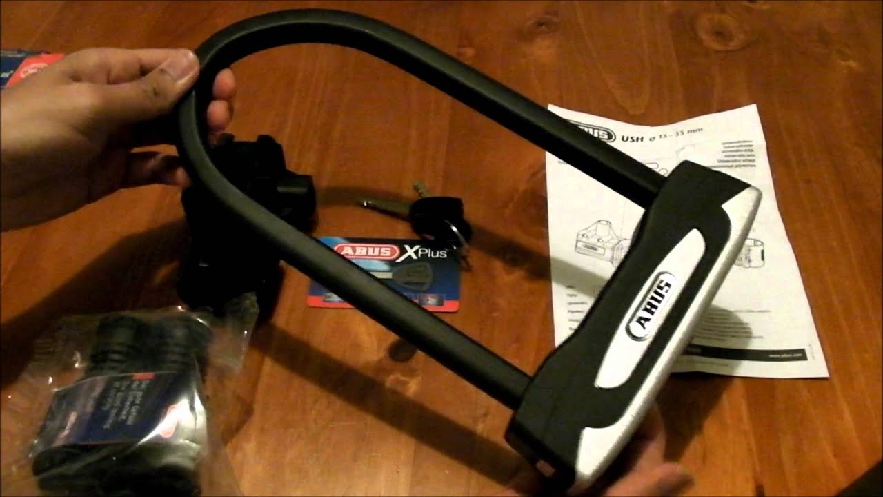 abus granit xplus 54 23cm bicycle u lock youtube. Black Bedroom Furniture Sets. Home Design Ideas