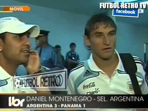 Gonzalo Bergessio y Rolfi Montenegro post ARG vs PANAMA 2009