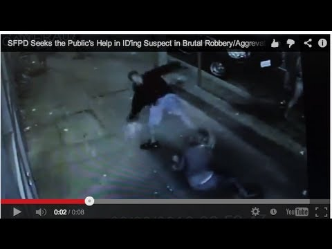 Wwyd#3 San Francisco, Ca  Man Brutally Kicks Female Robbery Victim In The Face As She Lays On Ground video