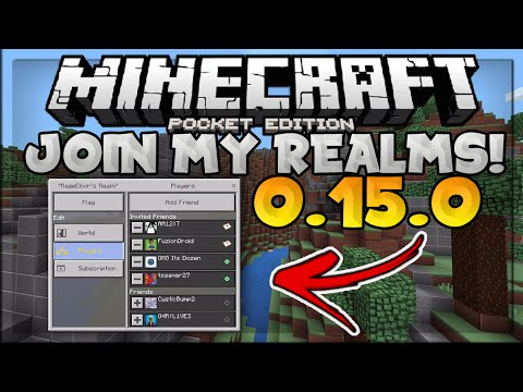 JOIN MY 0.15.0 REALMS SERVER! // MCPE Realms Review & Tutorial - Minecraft PE (Pocket Edition)
