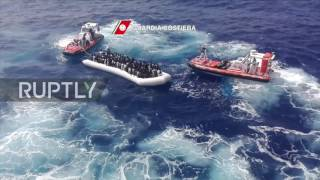 Italy: 350 migrants rescued in one day by Italian coast guard