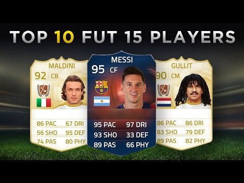 Top 10 Most Expensive FIFA 15 Ultimate Team Players | Messi, Maldini, Gullit!