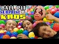BALL PIT SURPRISE!  Kids Toy Diving Challenge w/ KAOS