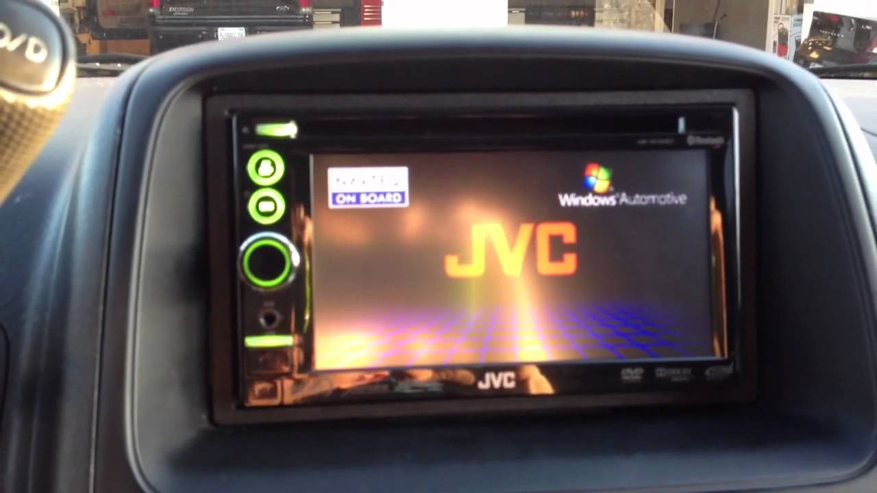 2003 Honda CRV JVC Navigation Detachable FACE DOUBLE DIN KW-NT3HDT - YouTube