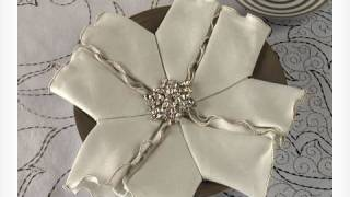 How To Fold A Snowflake Napkin For The Holidays