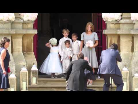 Geri Halliwell And Christian Horner's Wedding At St Mary's Church Woburn