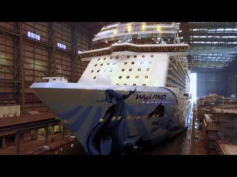 Norwegian Bliss floats out in Papenburg, Germany