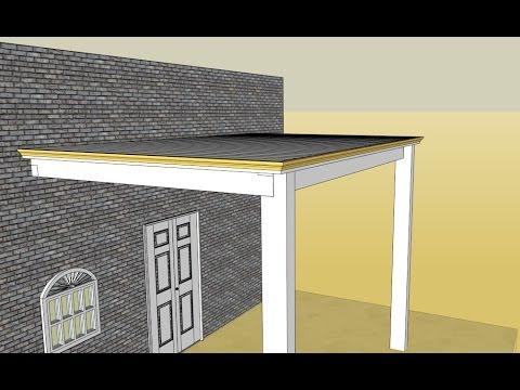 навес - Строим навес с крышей из поликарбоната - 0