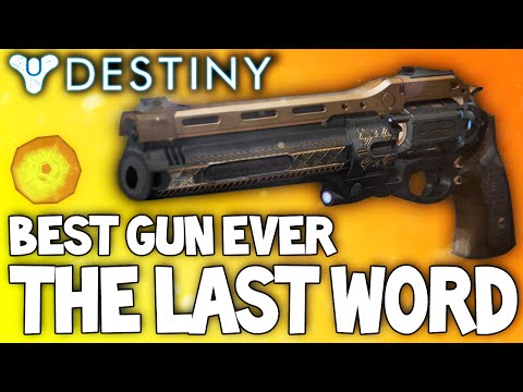 Destiny: The Last Word - Insane Exotic Weapon Review   My New Favorite Weapon video