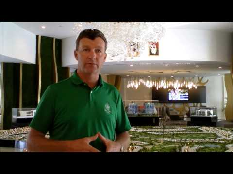 Gil Hanse Golf Architect talking about the Trump International Golf Club Dubai