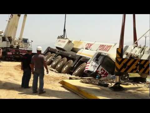 Crane accident Liebherr Ltm-1200. Avi cranes. Кран