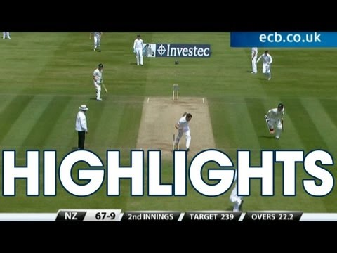 7 wicket Broad! Highlights England v New Zealand - Day 4 Afternoon Ses...