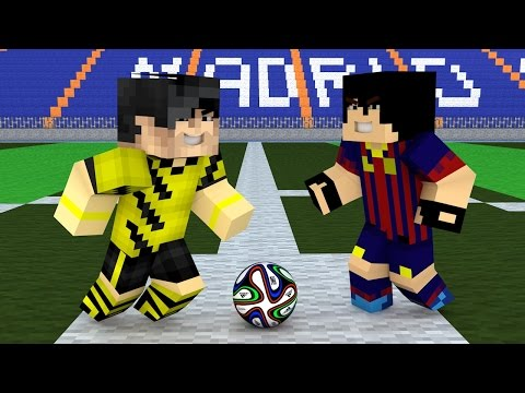 Minecraft - Borussia Dortmund x Barcelona - O Desafio !