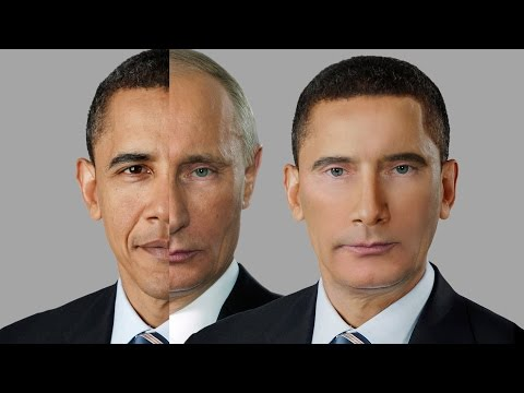 Merging Barack Obama and Vladimir Putin - Photoshop