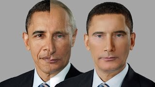 Merging Barack Obama and Vladimir Putin - Photoshop