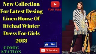 How to New Collection For Latest Desing Linen House of  ittehad Winter Embriodered Shawl  Linen Dres