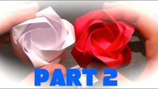How to Make an Origami Rose - Part 2 - Finishing the Rose