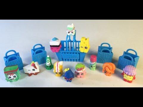 Kid Vids!  12 Shopkins Surprise Eggs - Huevos Sorpresa!