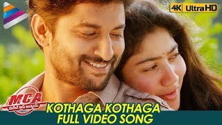 Kothaga Kothaga Full Video Song 4K | MCA Video Songs | Nani | Sai Pallavi | DSP | Telugu FilmNagar