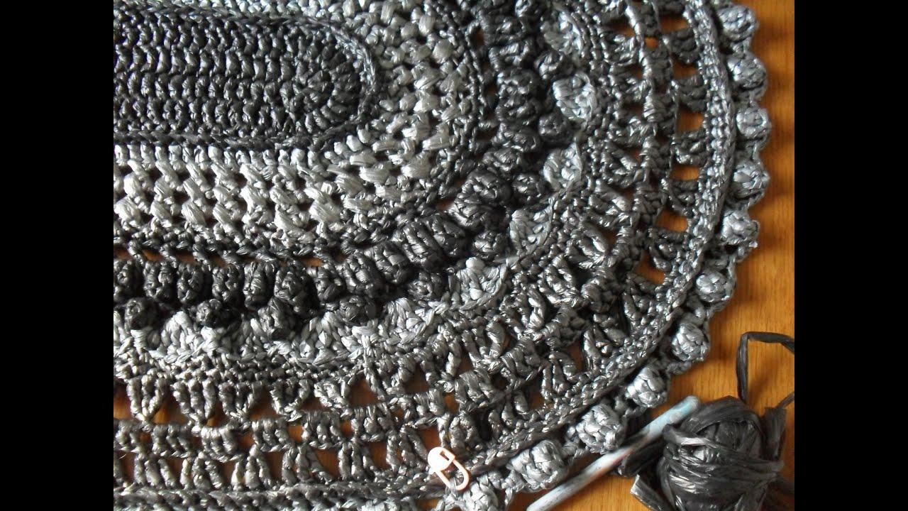 Вязание крючком овального коврика из полиэтиленовых пакетов 253