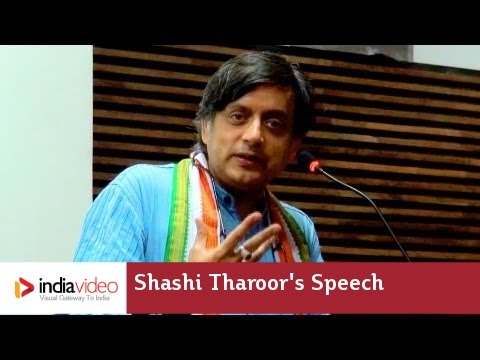 Shashi Tharoor's Speech video