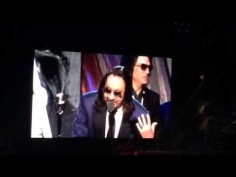 Kiss - Rock N Roll Hall Of Fame Induction Speech. Brooklyn, Ny 4-10-2014 video