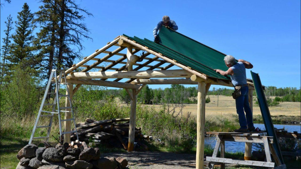 Building A Log Gazebo At Big Bar Lake Youtube