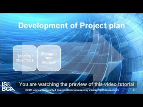 Development of Project plan | How To Set Up ISO 27001 Project - Writing the Project Plan