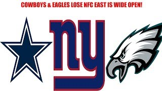 Dallas Cowboys and Philadelphia Eagles both lose! Giants stay within a game of the division!