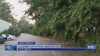 Clown sighting reported in Fayetteville, police say