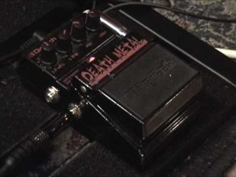 Digitech DEATH METAL Distortion guitar effects pedal demo