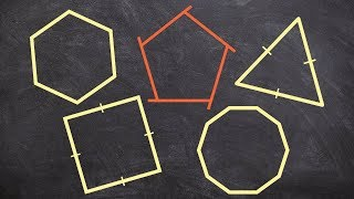 How to find the measure of one exterior angle of a regular polygon