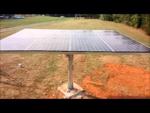 NC Solar Now installs a 5.2 kW AllEarth Solar Tracker