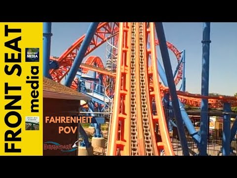 Hersheypark - Ride On Fahrenheit. front seat ride POV! Wow! Hershey Park rollercoaster coaster