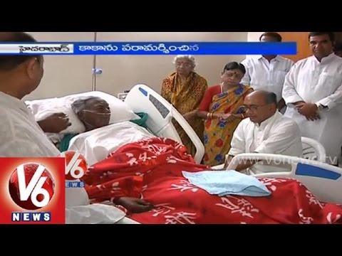 Digvijay Singh met Senior Congress leader Venkat Swamy (Kaka) in hospital
