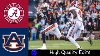 #5 Alabama vs #15 Auburn 2019 Iron Bowl Highlights | College Football Highlights