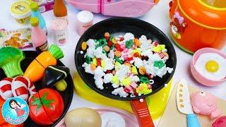 คุณแม่ทำอาหารให้คองซูนิ ของเล่นทำอาหาร ของเล่นเครื่องครัว ของเล่นเสริมพัฒนาการ