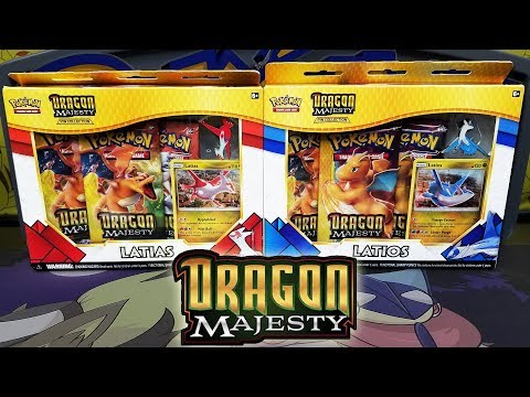 DRAGON MAJESTY! Opening BOTH Latios and Latias Dragon Majesty Pin Collection Boxes!
