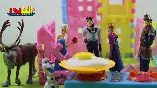 Frozen Toys , Elsa, Anna, Olaf,Kristoff and Sven in Hans house TOYS FOR KIDS