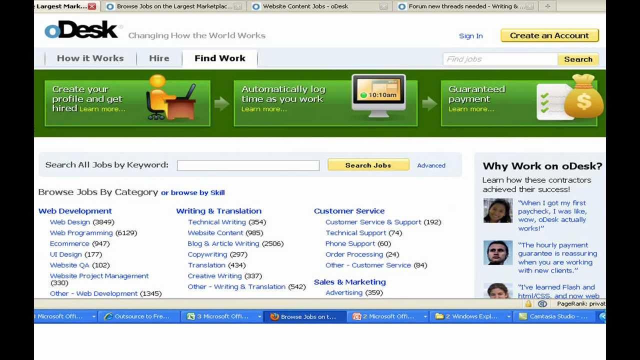 find work online