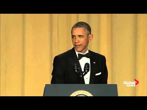 Barack Obama takes lighthearted jab at Justin Trudeau at White House correspondents' dinner