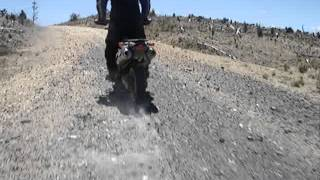 sinek flat tyre ridding with flat tyre bmw f650gs