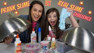 PRANK SLIME vs REAL SLIME CHALLENGE met MEISJEDJAMILA - Bibi