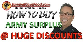 Army surplus/ Military surplus: Learn how to buy at huge discounts on Army and military surplus.