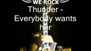 Watch Thunder Everybody Wants Her video